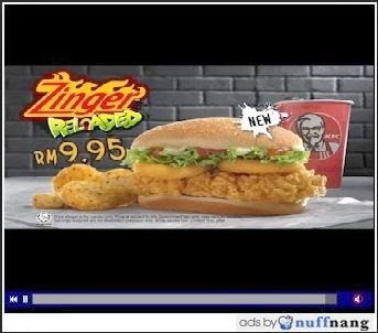 KFC Zinger Reloaded Video