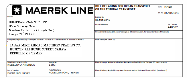 What is a straight bill of lading AdvancedonTrade – Sample of Bill of Lading Document