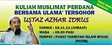 Kuliah Duha Muslimat Perdana bersama Ustaz Azhar Idrus.