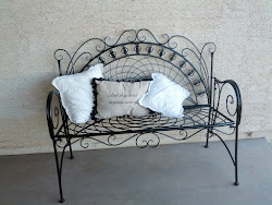 Metal Scroll bench- Sold