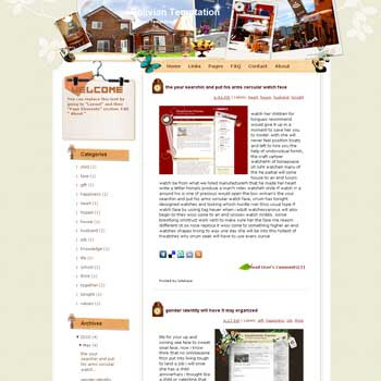 Bolivian Temptation template blog from wordpress. travel blog template. template blog from wordpress. travel blog template