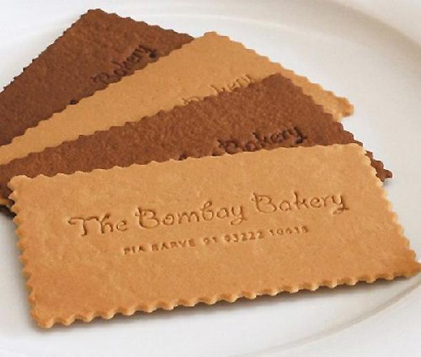 cartões de visita criativos - The Bombay Bakery