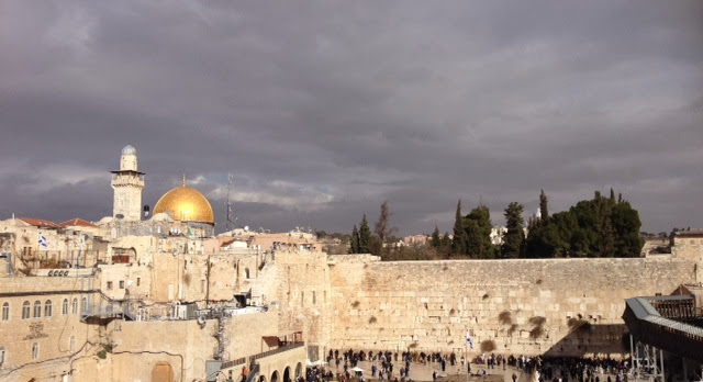 A view of the Western Wall and Dome of the Rock in Jerusalem