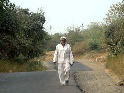 A Gujarati man in traditional attire 