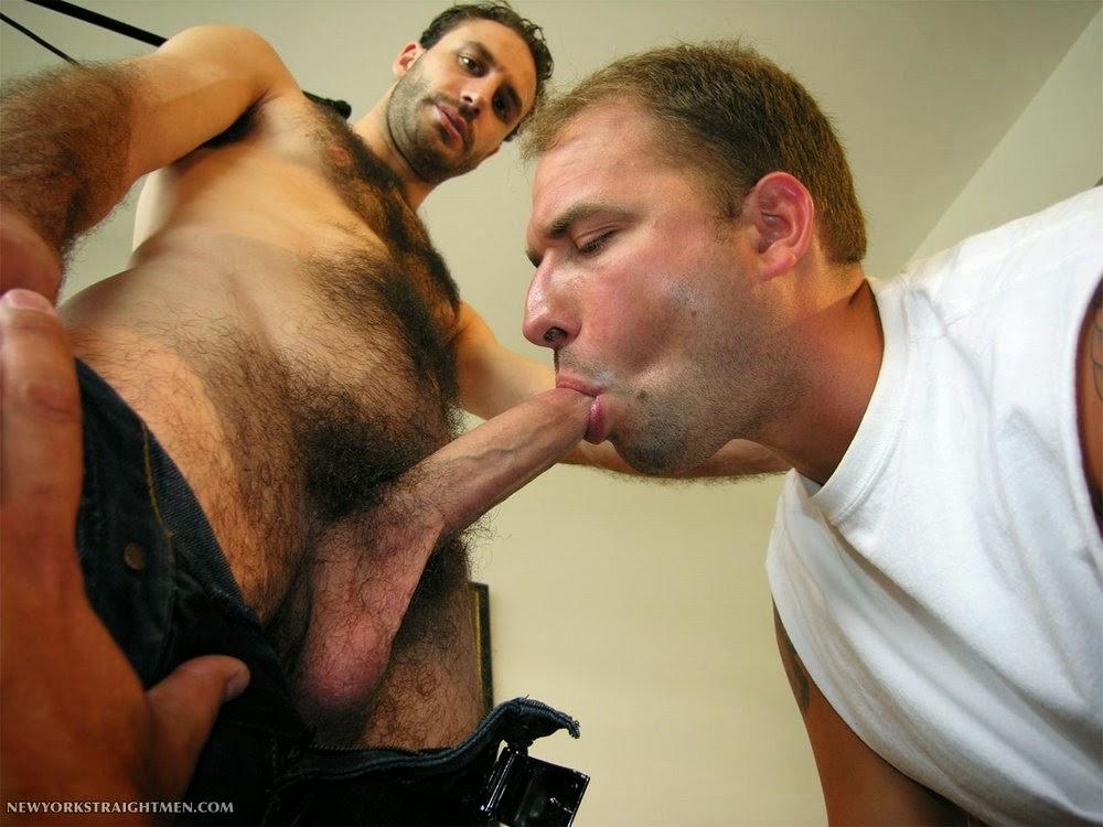 Metendo a boca na tora do peludo