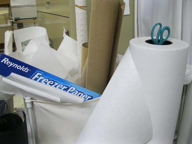 freezer paper in the bin