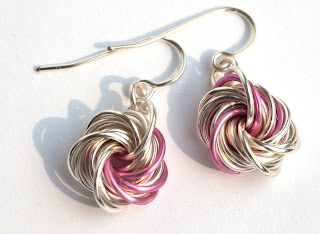 Swirl Earrings Ohrringe Chainmaille