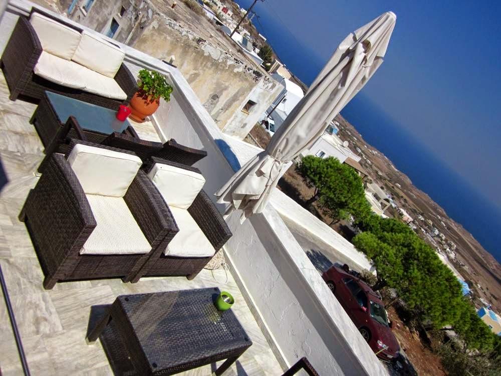 Santorini from Afrodete Hotel in Firostefani