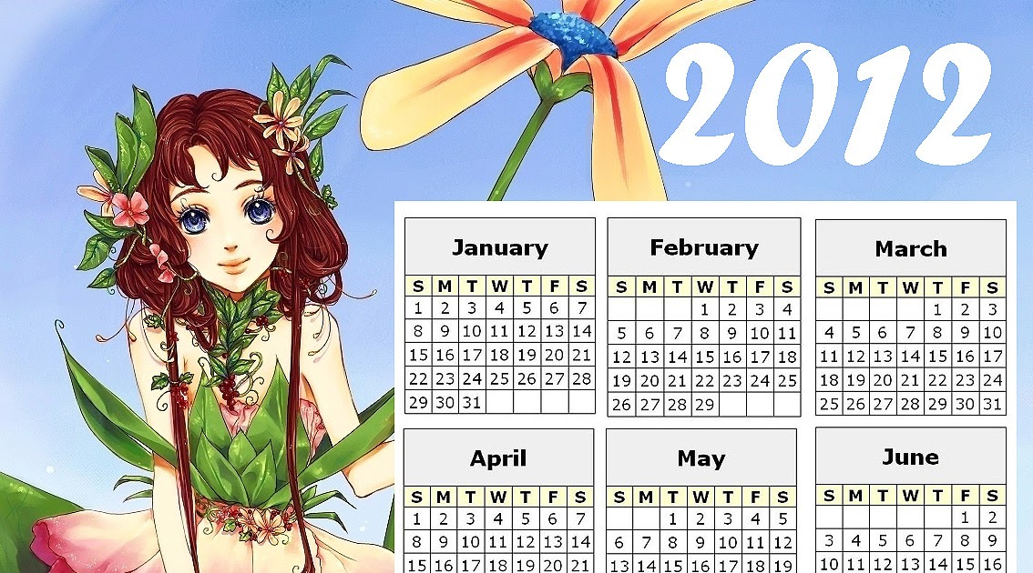 FAIRY COLORING PAGES: 2012 FREE FAIRY CALENDAR