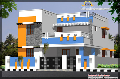 3 house elevations over 2500 sq ft kerala home design for Award winning house designs in india