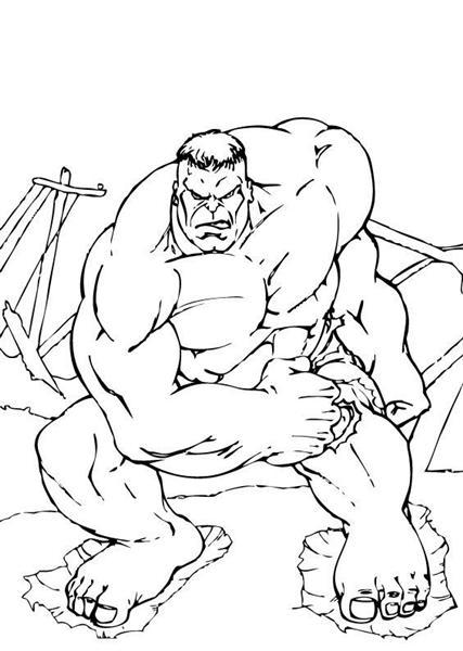 incredible hulk coloring pages - photo#12