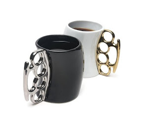 Fred & Friends Fisticup Metallic-Handled Ceramic Mug