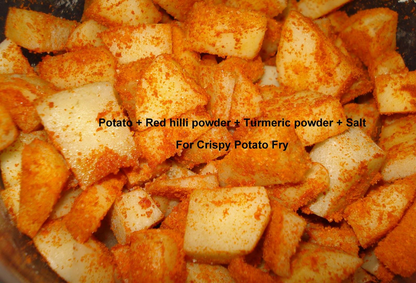 Crispy Potato Fry Side Dish For Lemon Rice You Too Can