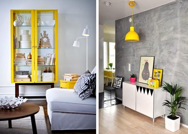 Table De Salon Jaune : Fotos via: cote maison, deco mariclaire, elle ...
