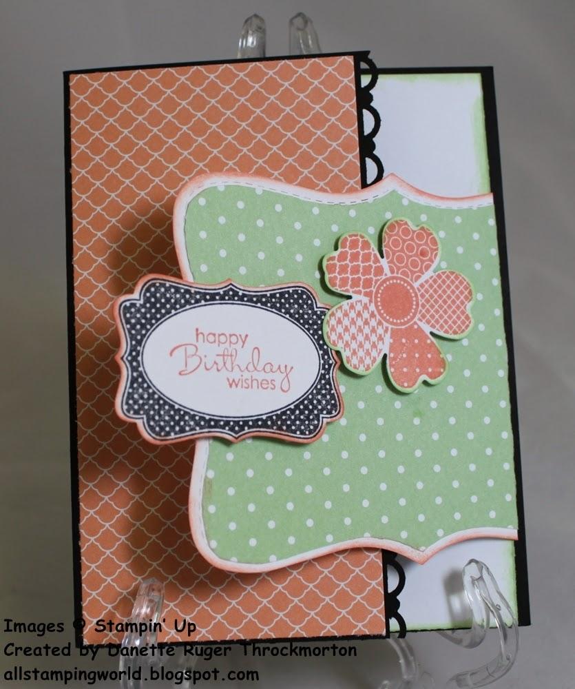 folding birthday card