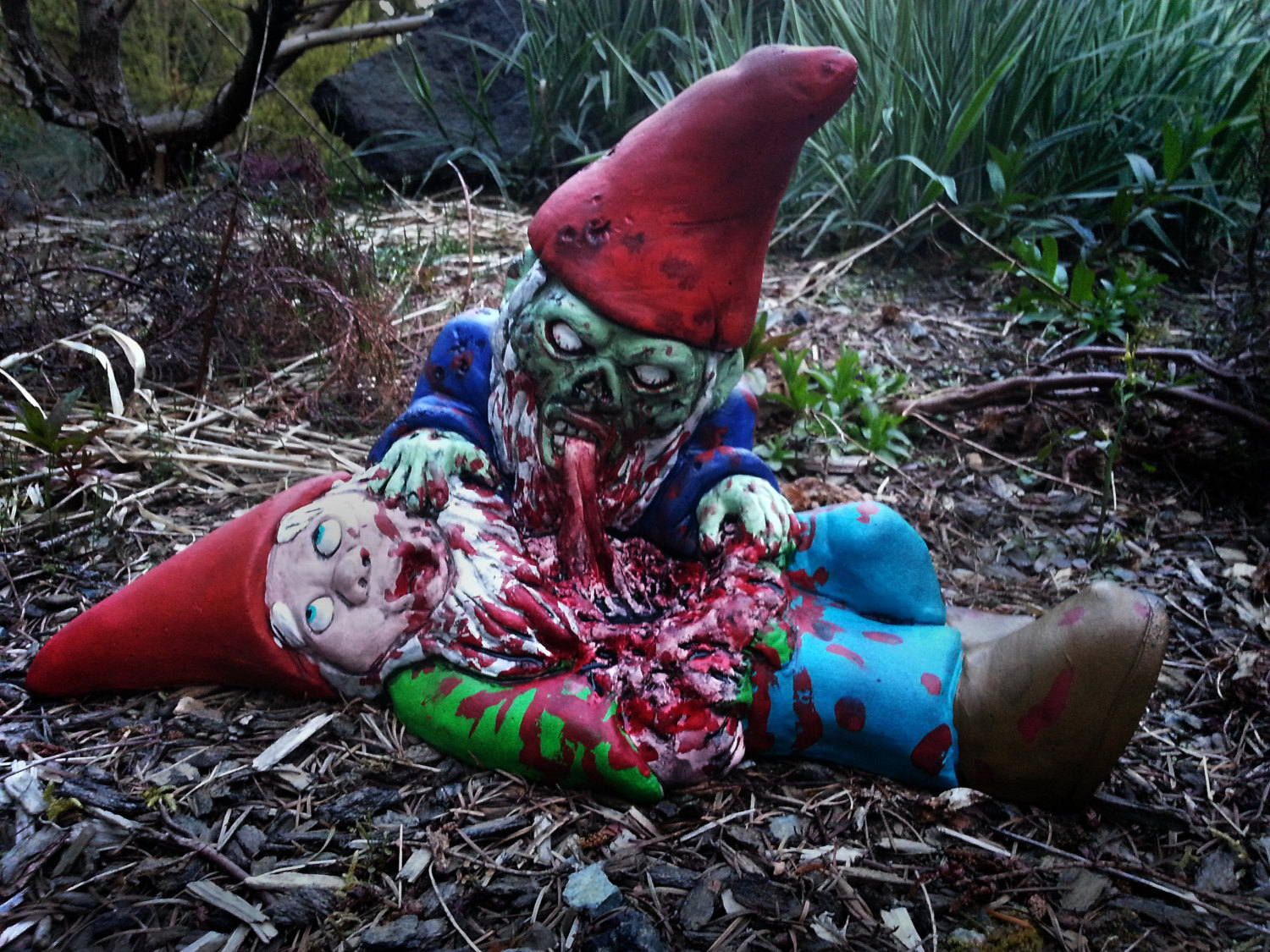 gallery for zombie garden gnomes