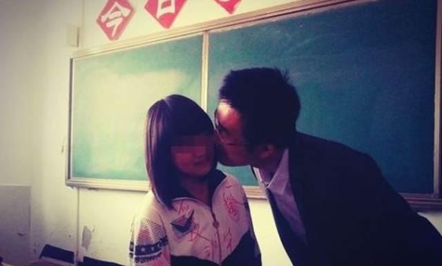 pak guru cium pipi siswa