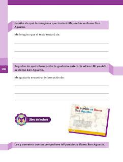 Apoyo Primaria Español 2do grado Bloque 3 lección 13 Mi pueblo se llama San Agustín