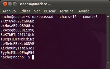 Gerando senhas seguras com linux.