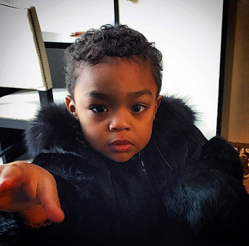 50 cent fur coat son