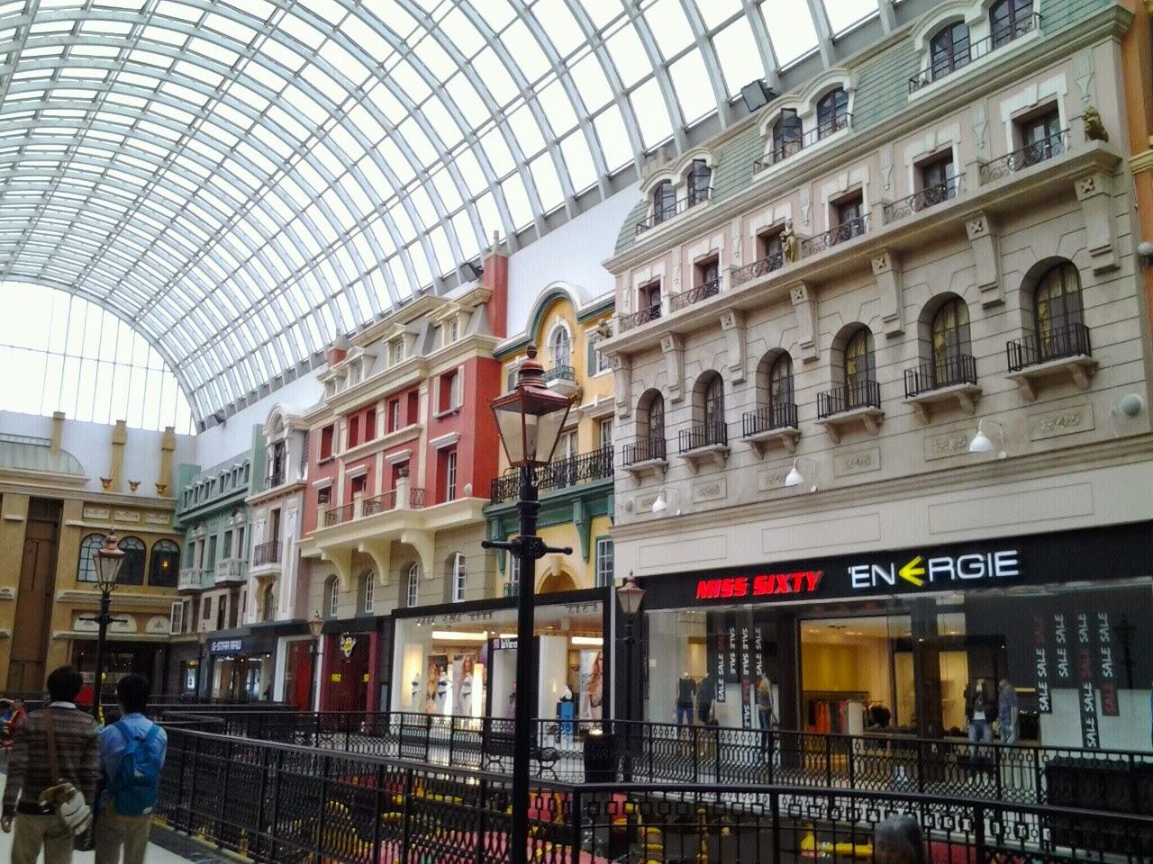 West Edmonton Mall european facades