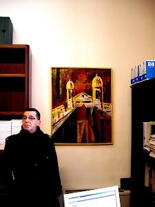 Instituto de Estudios Giennenses y David Padilla ante mi cuadro