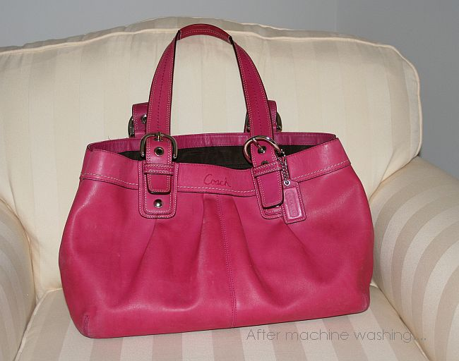 I even purchased the Coach leather cleaner and it didn t help my pink bag  that I purchased new for almost  300!) 1ca9cc991e9bb