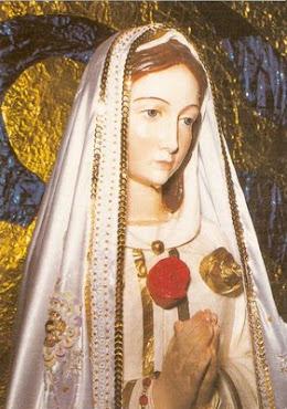 Imagem da Senhora Rosa Mística que chorou em  Louveira-SP, na década de 1990.