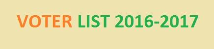 VOTER LIST 2016-2017