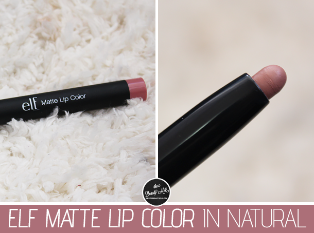 elf matte lip color natural swatch review nc30