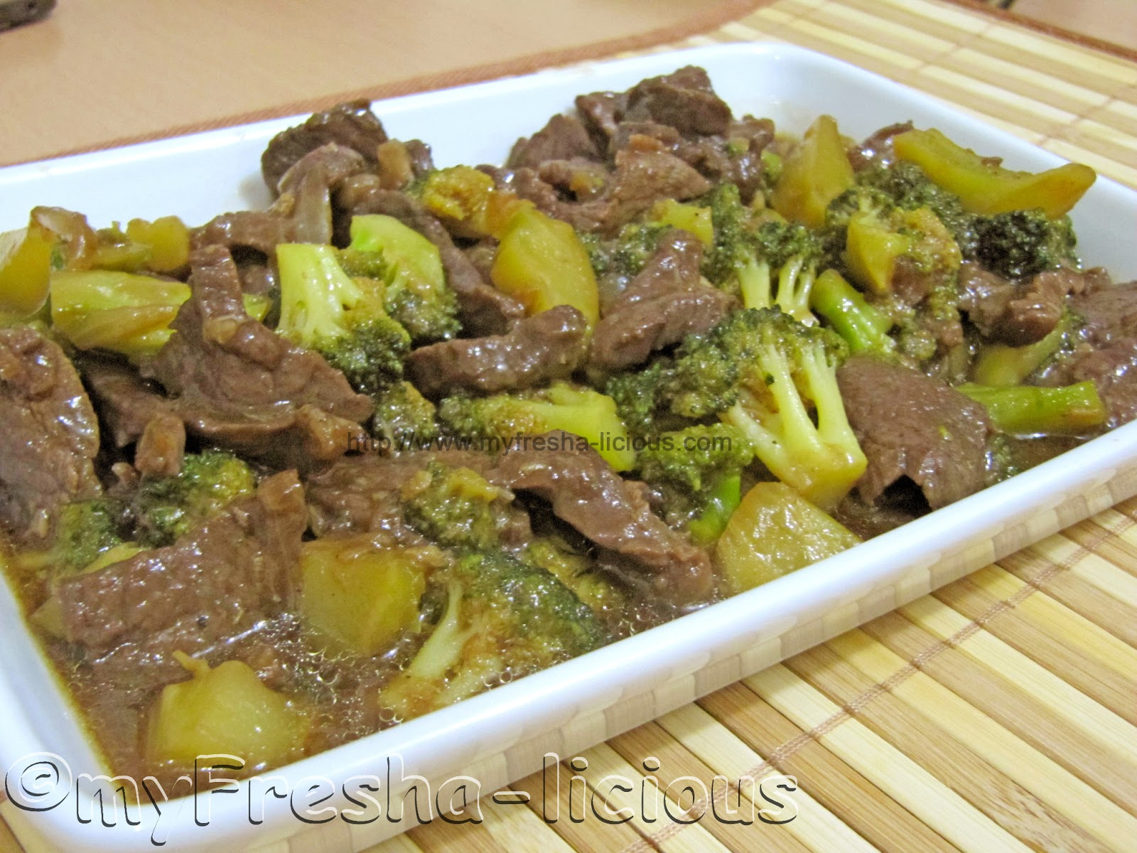 My Fresha-licious: Beef and Broccoli in Oyster Sauce