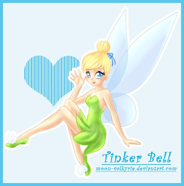 Tinker Bell por moon-valkyrie