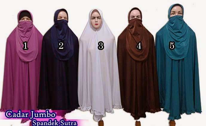 Jilbab cadar purdah yang murah dari spandek sutra