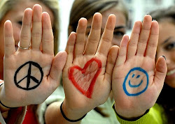 Peace, love, smile