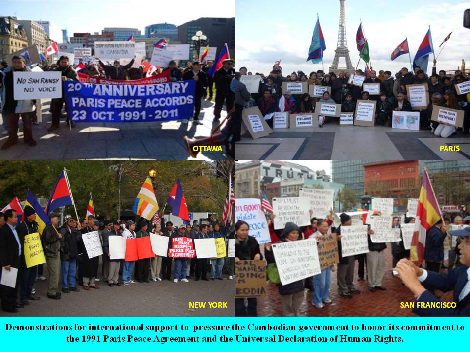 Ki Media Rallies For The 20th Anniversary Of The 1991 Paris Peace