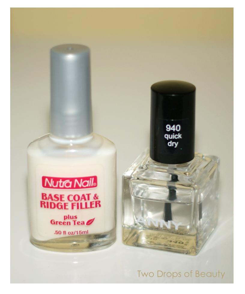 база для ногтей, топовое быстросохнущее покрытие, топ, Anny, Nutra nail, iherb