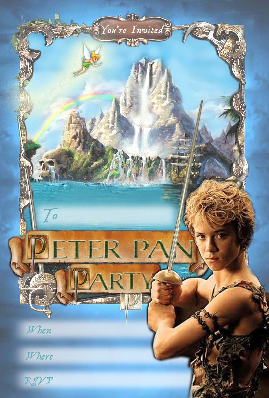 Peter Pan Invite Printable