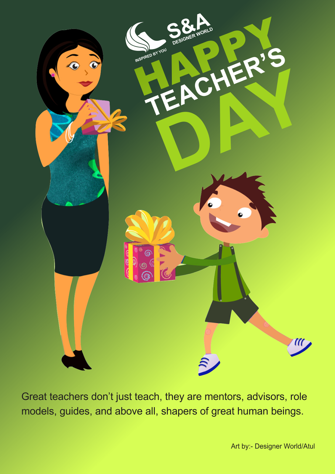 Happy Teacher's Day Show your Expression with the art and give a best  title=