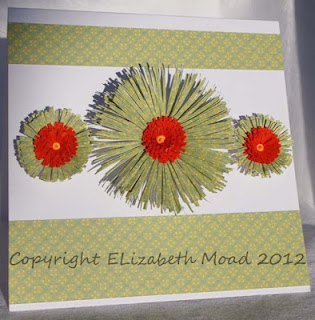 Quilled fringed flowers