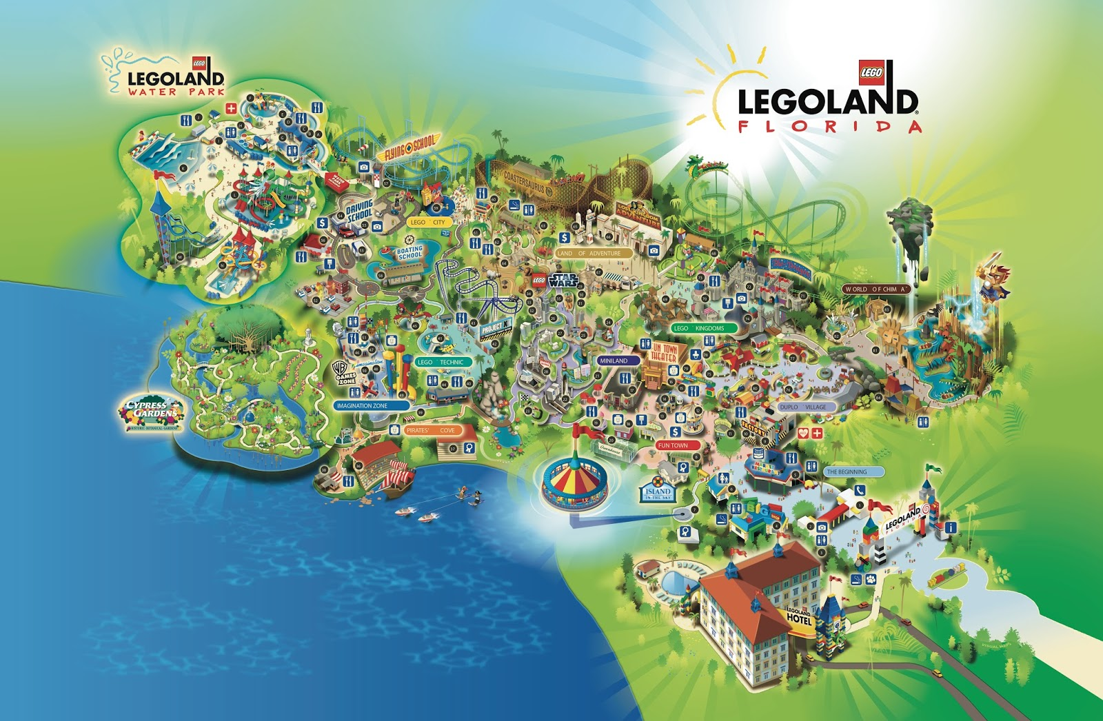 NewsPlusNotes Legoland Florida Hotel Update  New Resort Map