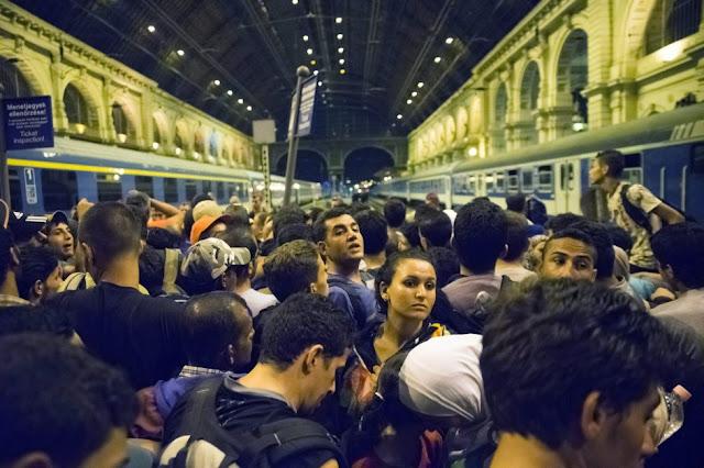 Refugiados en Estación de trenes