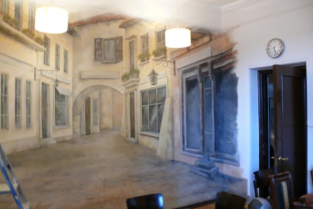 Künstlerische Wandmalerei, dekorative Malerei, Warszawa, malarstwo ścienne.