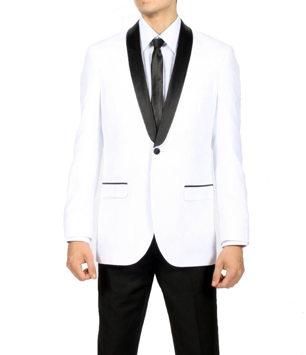 White And Black Prom Suits - Go Suits