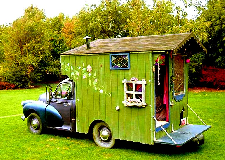 Is This Just The Cutest Little Motorhome Or What Iconic Morris Minor From Late 1950s Early 1960s And Isnt Tiny House Attached