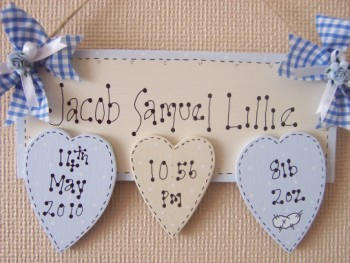 For keeps sake keepsakes personalised handmade gifts british personalised name plaques wooden for new babies christenings birthdays negle Choice Image