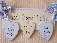 Personalised name plaques, wooden, for new babies, christenings, birthdays
