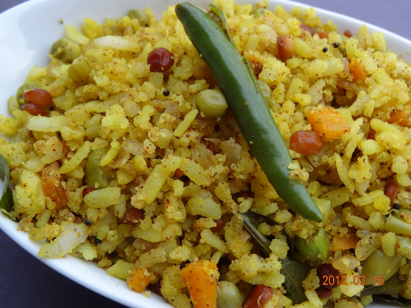 Vegetable Aval (Poha) Uppuma| Great-secret-of-life