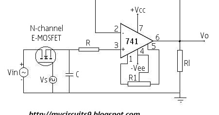 sample and hold circuit using op amp 741