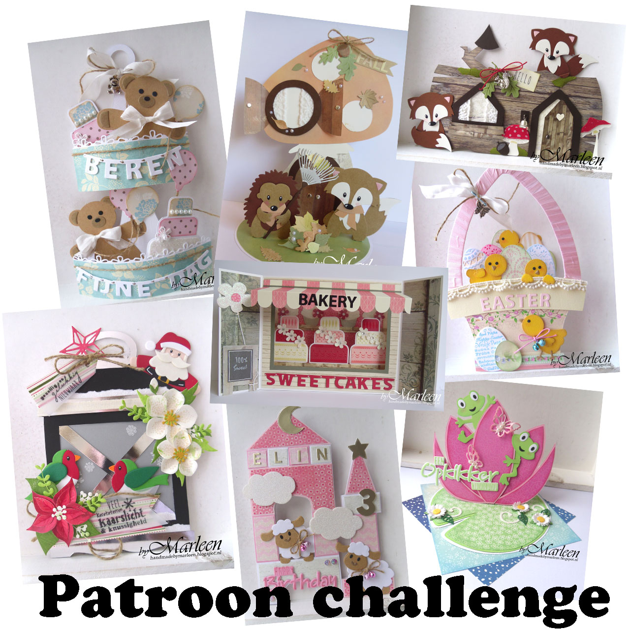 Patroon challenge bij Marleen gewonnen!