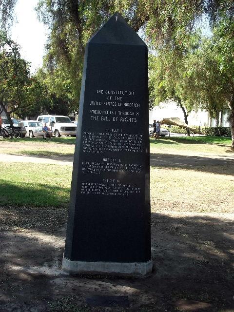 Not Fade Away: Bill of Rights Obelisk - Escondido, CA, USA